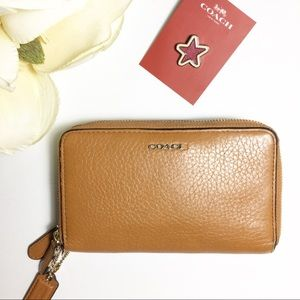 Coach Double Zip Leather Wallet